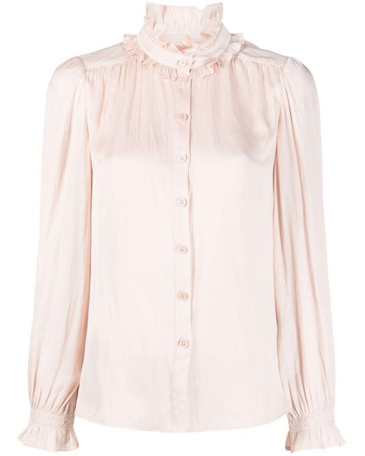 Zadig & Voltaire Tacca サテンブラウス Pink