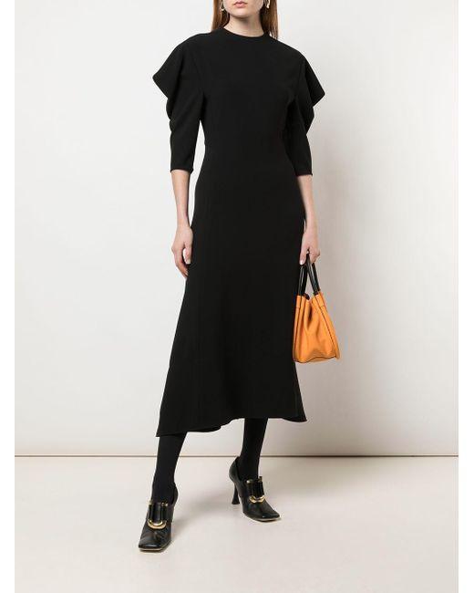 Proenza Schouler ドレープスリーブ ドレス Black