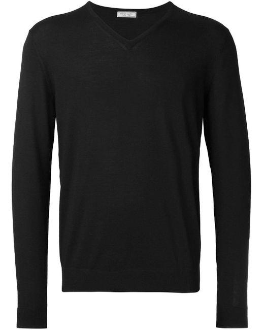 メンズ Fashion Clinic Timeless Vネック セーター Black