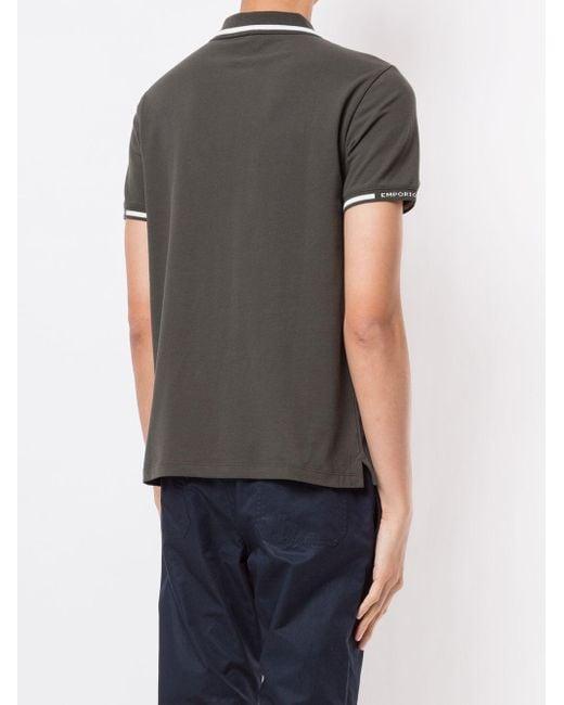メンズ Emporio Armani ロゴ ポロシャツ Gray