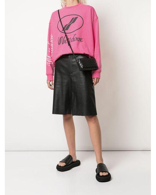 we11done ロゴ スウェットシャツ Pink