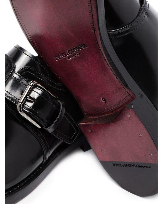 Dolce & Gabbana Monk-Schuhe mit Schnalle in Black für Herren