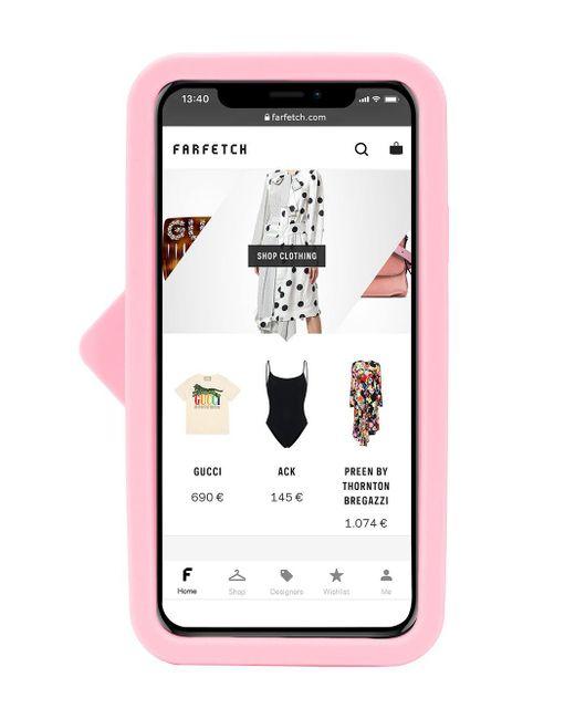 Чехол Flirting Eye Для Iphone X/xs Chiara Ferragni, цвет: Pink