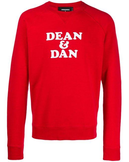 メンズ DSquared² Dean & Dan スウェットシャツ Red