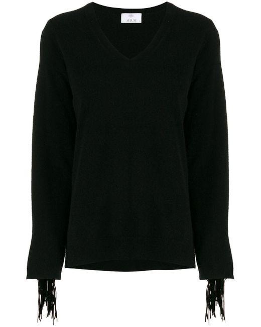 Allude Vネック セーター Black