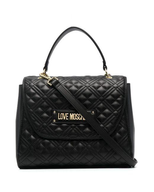 Love Moschino キルティング ロゴ ハンドバッグ Black