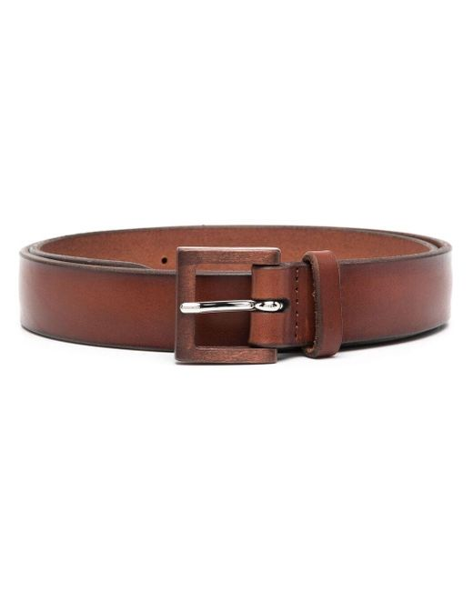 Orciani Brown Square Buckle Belt for men