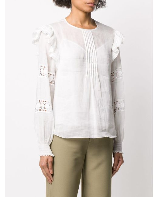 See By Chloé プリーツネック ブラウス White