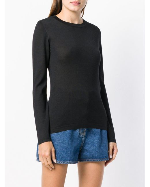 Brunello Cucinelli Long-sleeve Fitted Sweater Black