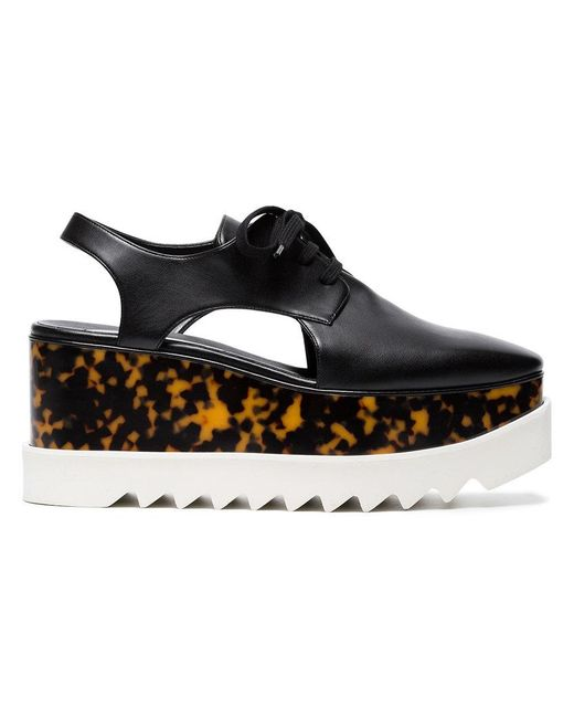 Stella McCartney - Black Elyse 75 Cutout Flatform Shoes - Lyst