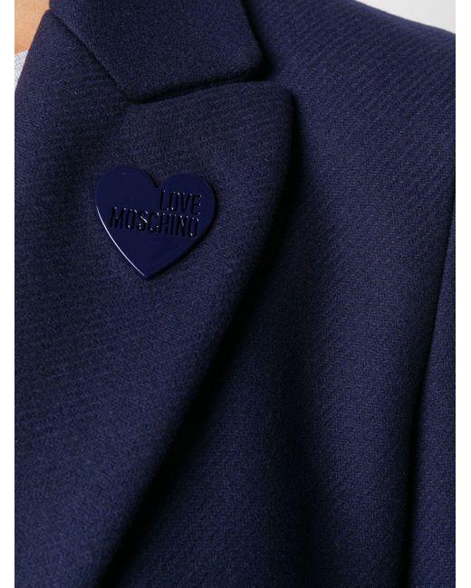 Love Moschino ハートロゴ コート Blue