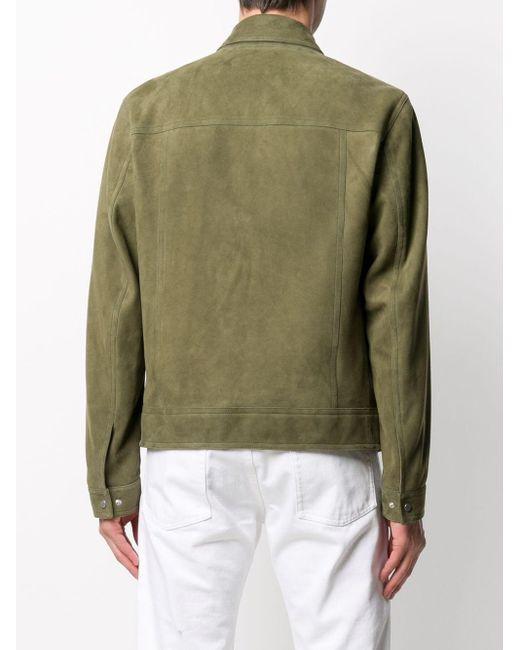 メンズ DROMe スエード ボンバージャケット Green