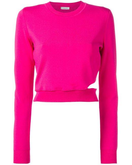 Mugler カットアウト セーター Pink