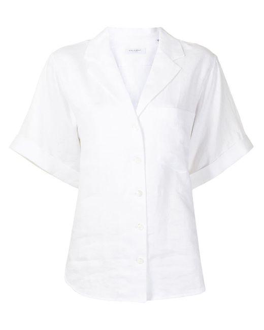 Equipment White Celeme Short Sleeve Top