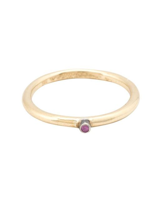 Rosa Maria - Metallic 'ghina' Solitaire Ring - Lyst