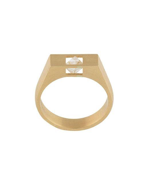 Shihara ダイヤモンド リング 18kゴールド Metallic