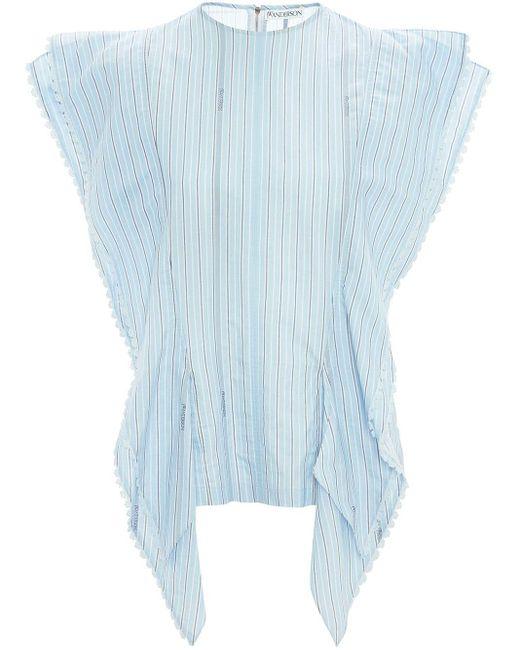 J.W. Anderson Tab Detail Kite Top Blue