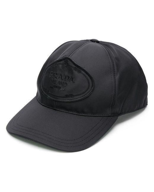 f017ff2053a Prada Logo Baseball Cap in Black for Men - Lyst