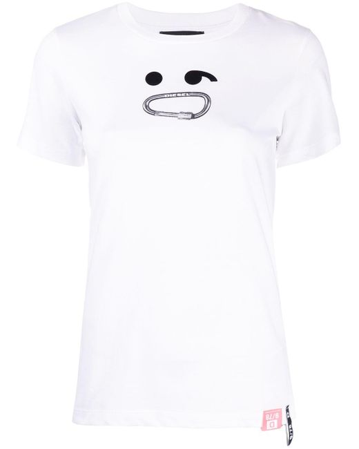 DIESEL T-sily-s8 Tシャツ White