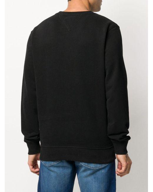 メンズ Tommy Hilfiger ロゴ スウェットシャツ Black