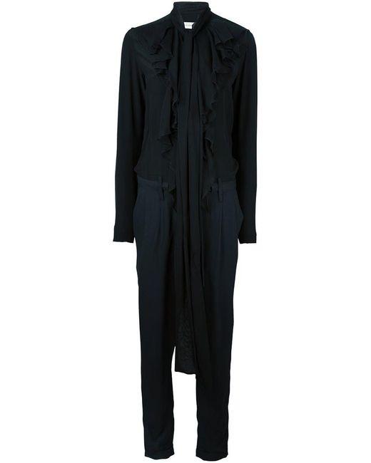 Faith Connexion - Black Ruffle Front Jumpsuit - Lyst