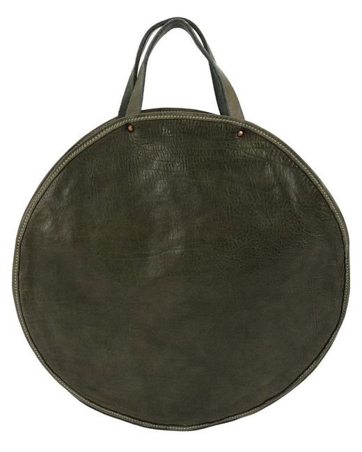 378733755a Guidi - Green Round Tote Bag for Men - Lyst ...