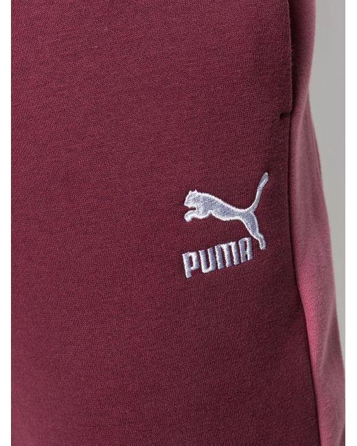 メンズ PUMA ドローストリング トラックパンツ Red