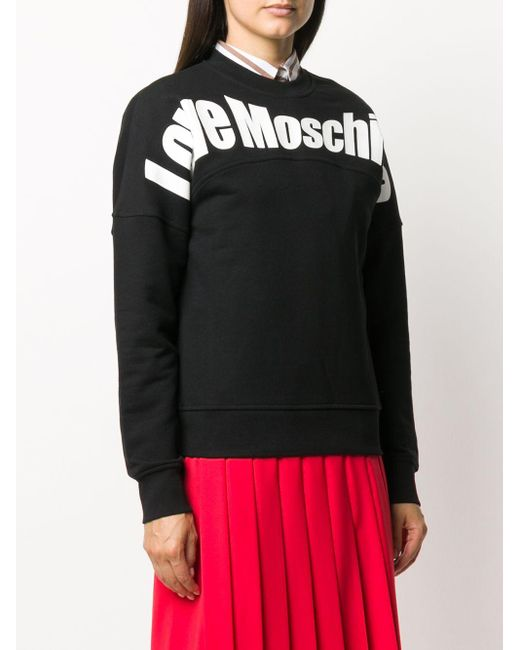 Love Moschino ロゴ スウェットシャツ Black