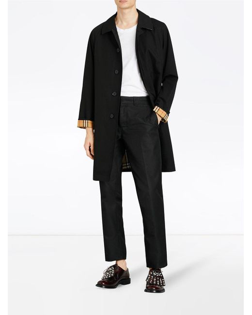 Car Coat The Camden Burberry pour homme en coloris Black