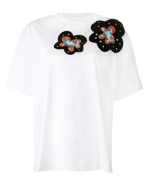 Marni | White Embroidered Appliqué T-shirt | Lyst