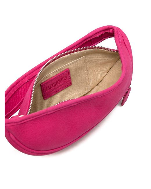 メンズ Jacquemus ロゴプレート ベルトバッグ Pink