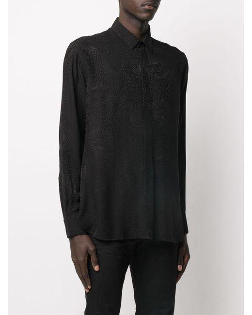 Жаккардовая Рубашка Saint Laurent для него, цвет: Black