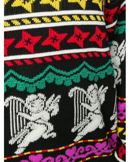 Джемпер Вязки Интарсия MSGM, цвет: Black