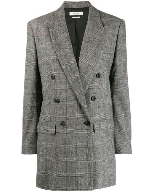 Étoile Isabel Marant チェック ジャケット Gray