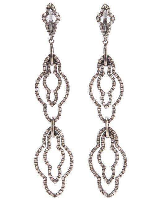 Loree Rodkin - Black Drop Diamond Earrings - Lyst