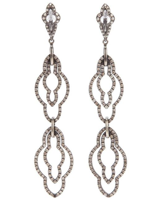 Loree Rodkin | Metallic Drop Diamond Earrings | Lyst