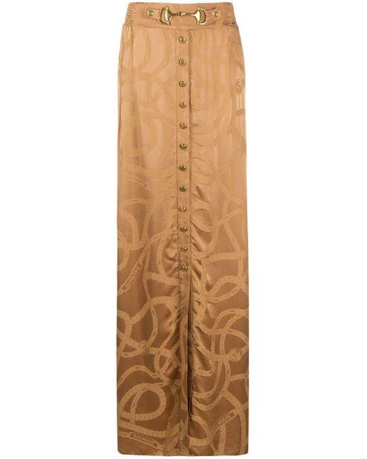 Balmain ロゴ ジャカード スカート Multicolor