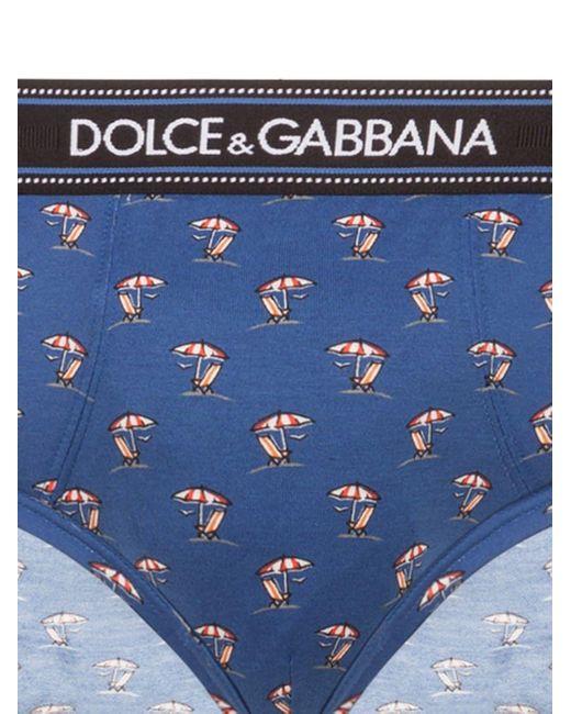 メンズ Dolce & Gabbana パターン ブリーフ Blue