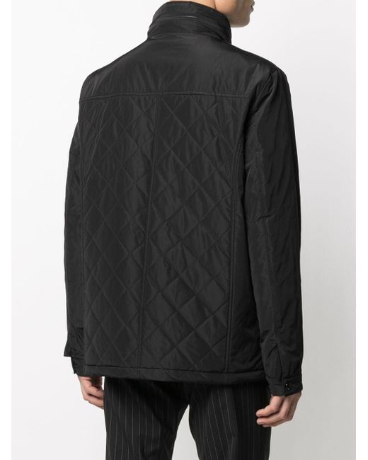 メンズ Karl Lagerfeld メタリック ジップジャケット Black