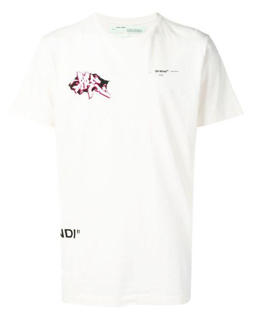 メンズ Off-White c/o Virgil Abloh グラフィック Tシャツ White