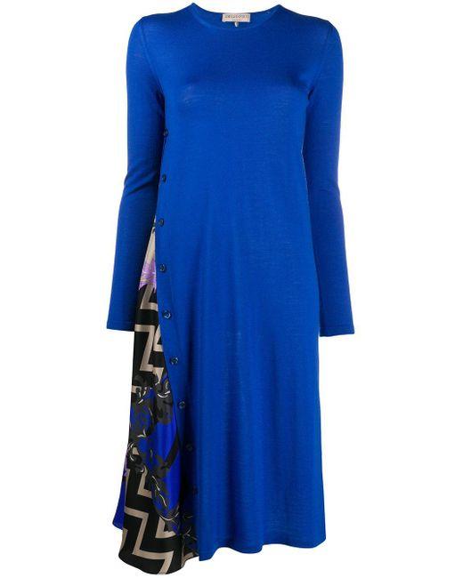 Emilio Pucci X Koché 'lupa' ニットドレス Blue