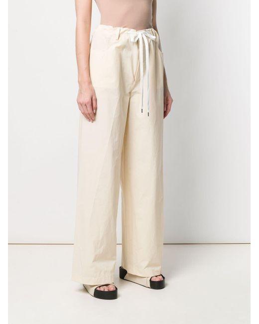 Pantalon ample à taille haute Marni en coloris Natural