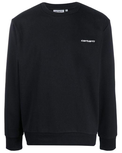 メンズ Carhartt WIP ロゴ スウェットシャツ Black