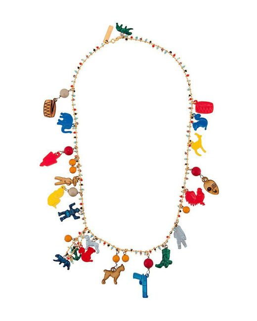 Marni - Red Charm Necklace - Lyst