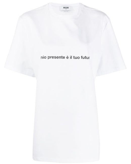 T-shirt à logo MSGM en coloris White