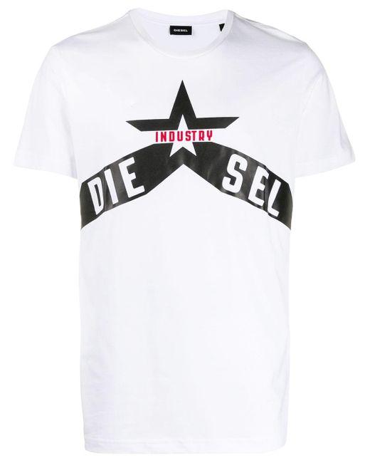 メンズ DIESEL ロゴ Tシャツ White
