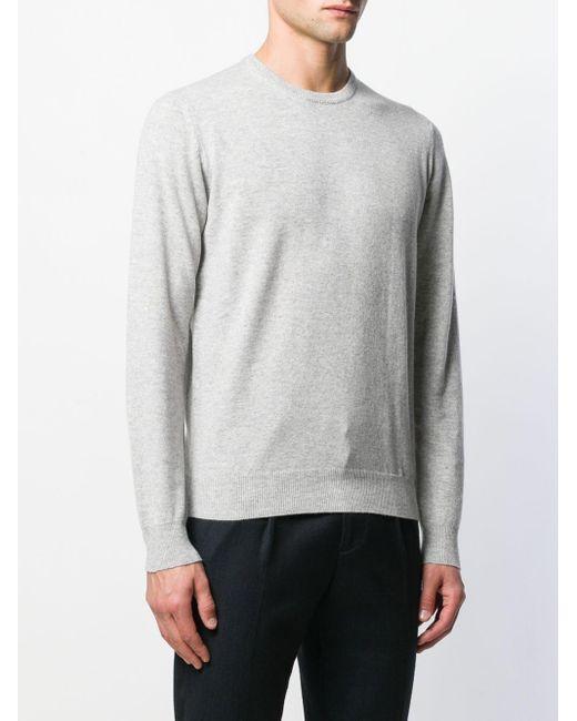 Pull en cachemire Dell'Oglio pour homme en coloris Gray