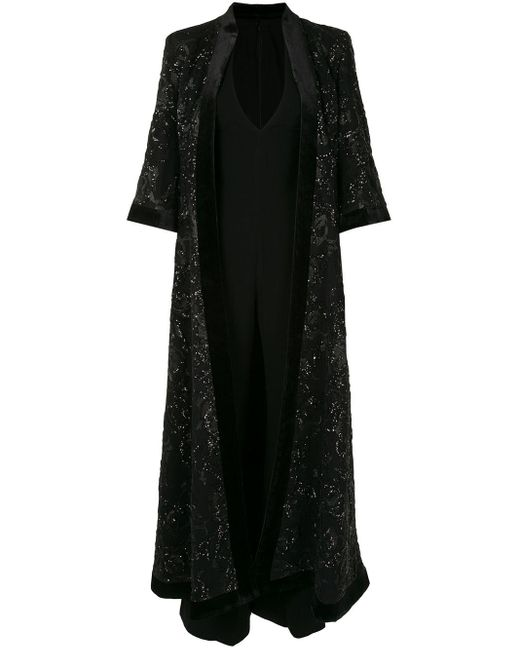 Saiid Kobeisy Vネック ドレス Black