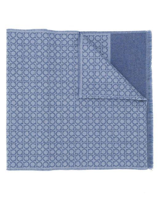 Шарф С Геометричным Принтом Ferragamo для него, цвет: Blue