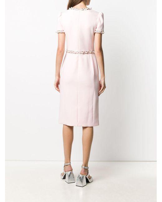 Jenny Packham ビーズトリム ドレス Pink